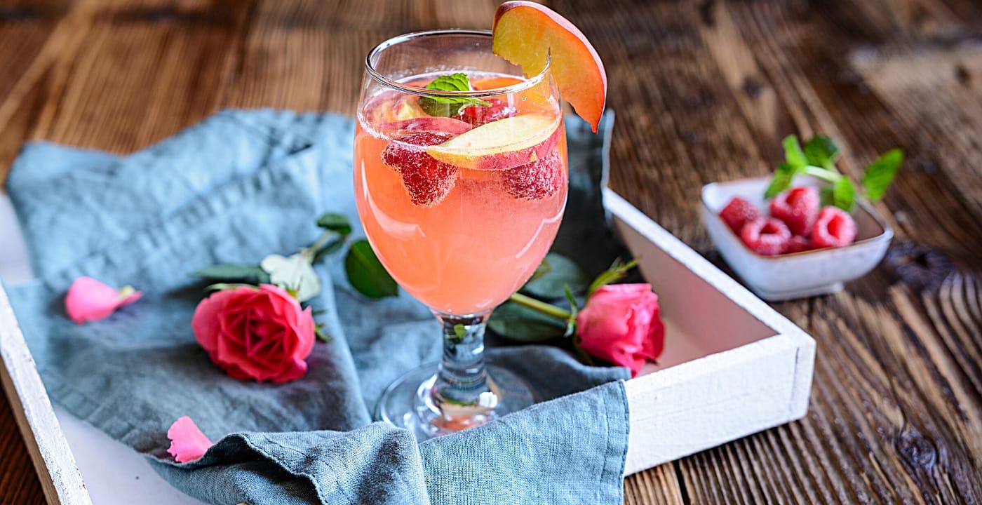 raspberry sunrise mimosa
