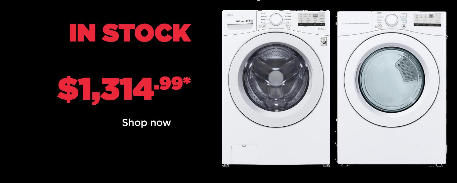 instock lg laundry pair 1314