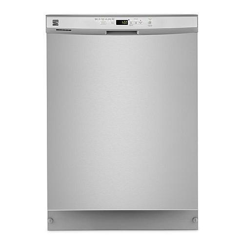 """Kenmore24"""" Built-In Dishwasher, Front Control, Plastic Tub"""