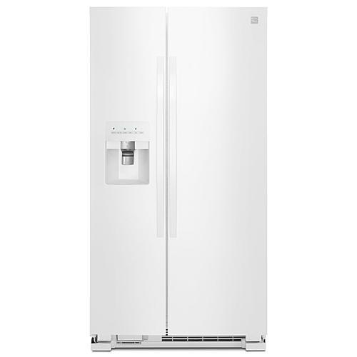 25 cu. ft. Side-by-Side Refrigerator with Ice & Water Dispenser - White
