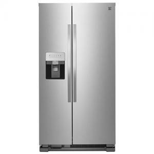 25 cu. ft. Side-by-Side Refrigerator with Ice & Water Dispenser - Stainless Steel