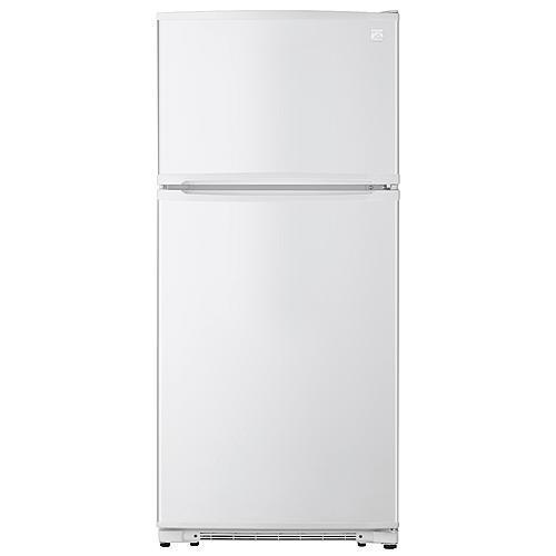 Kenmore18 Cu. Ft. Top-Freezer Refrigerator With Glass Shelves – White