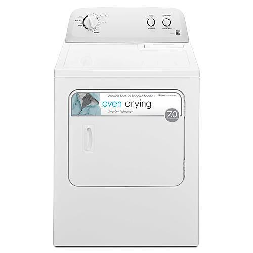 7.0 cu. ft. Electric Dryer - White